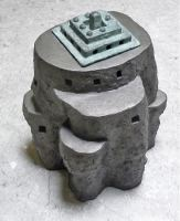 Lingam-I-ceramics-and-bronze-45x32x30-cm-2008