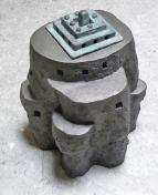 Lingam-I-ceramics-and-bronze-45x32x30-cm-2008